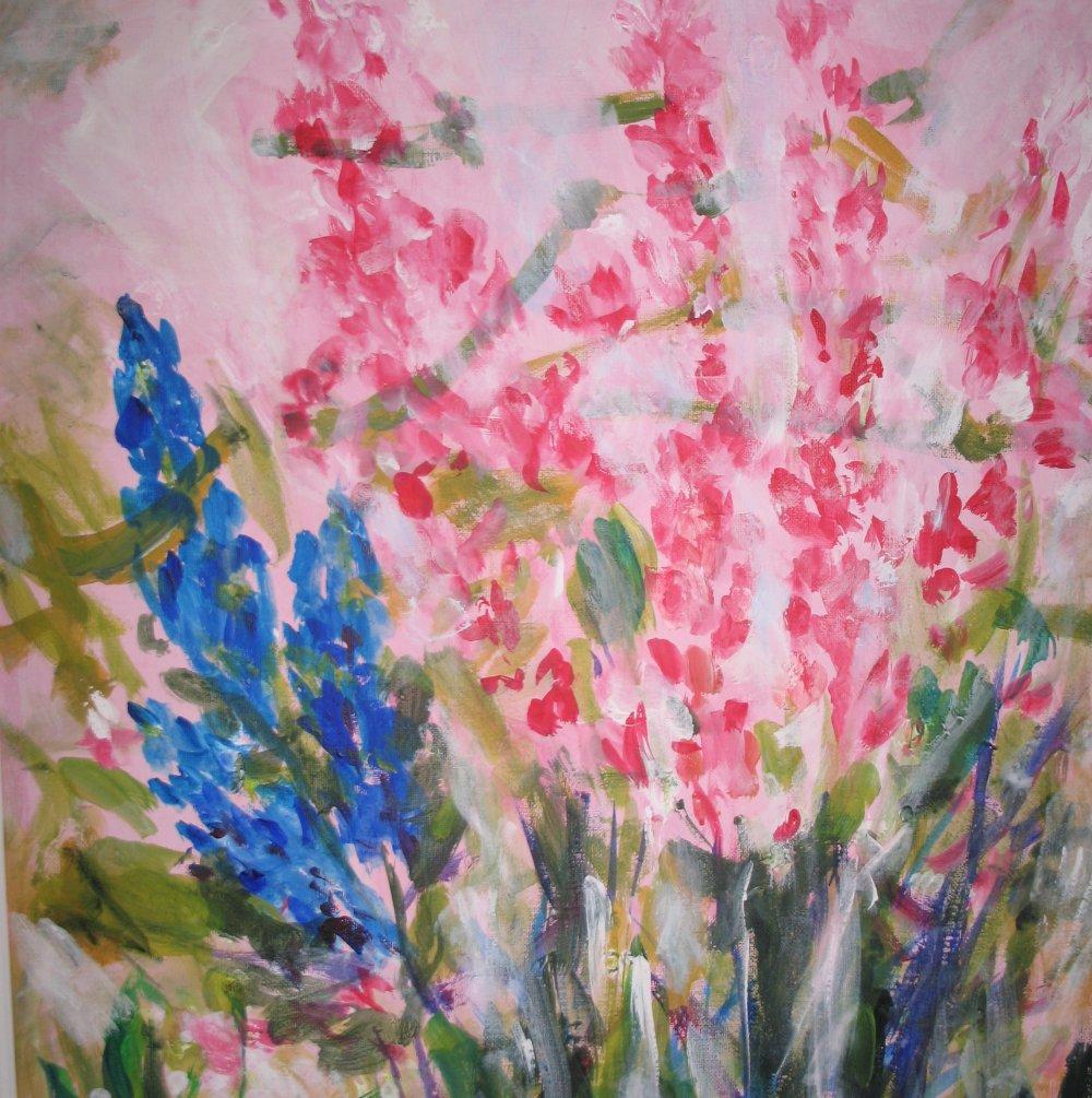 Bouquet Printannier - acrylique