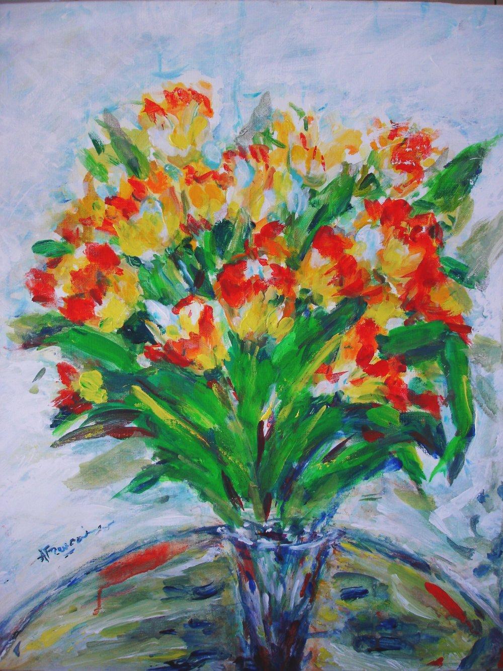 Les Tulipes - acrylique