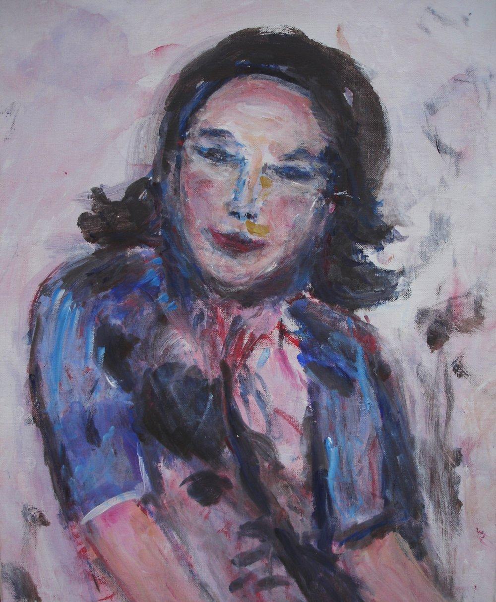 Mademoiselle - acrylique