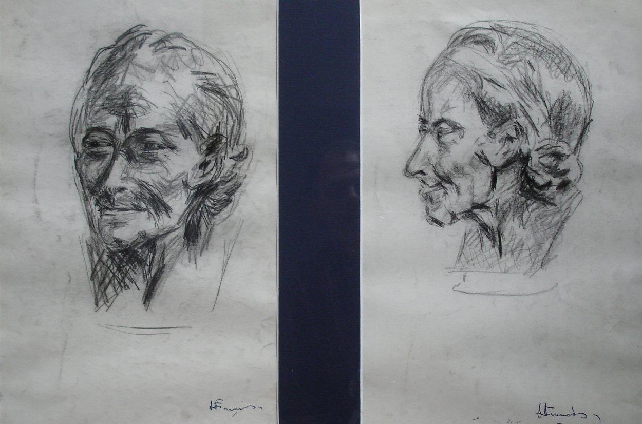 Voltaire - fusain