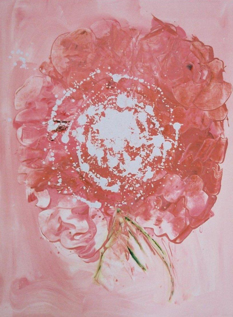 La Planète Rose - acrylique