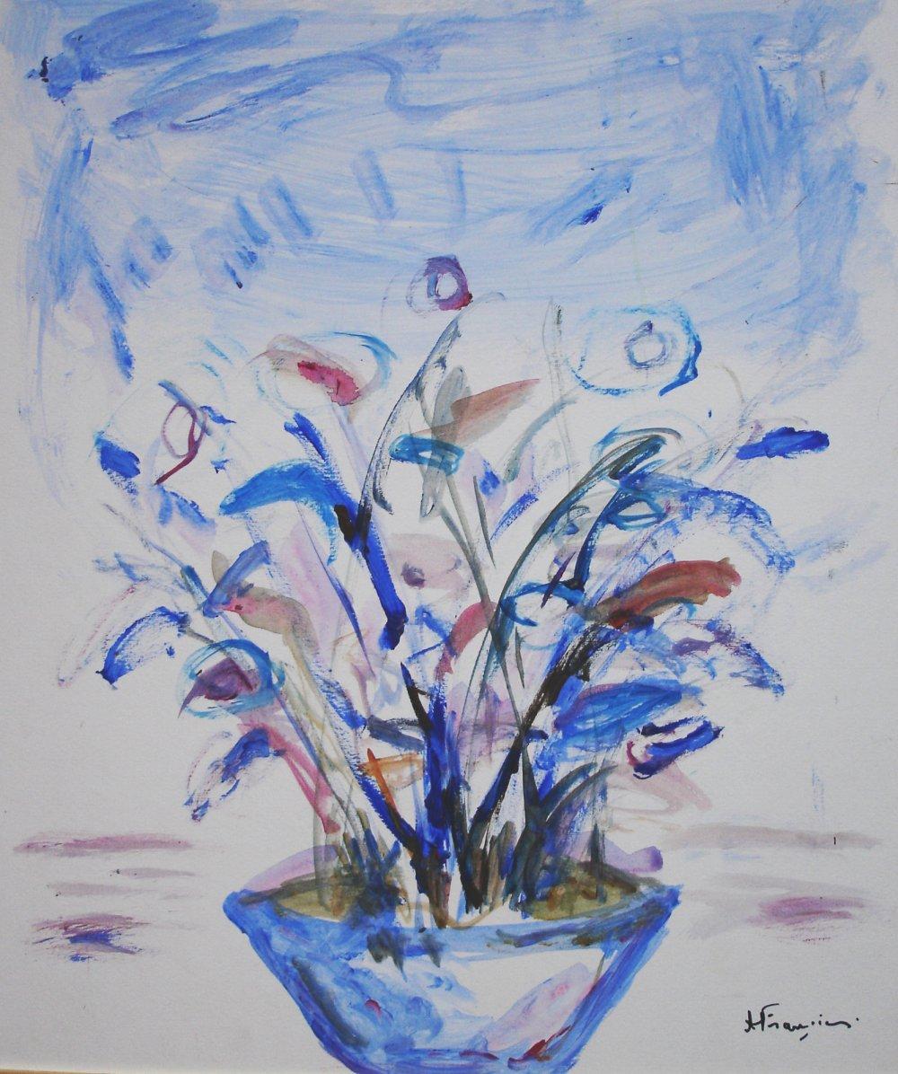 Bouquet Bleu - acrylique