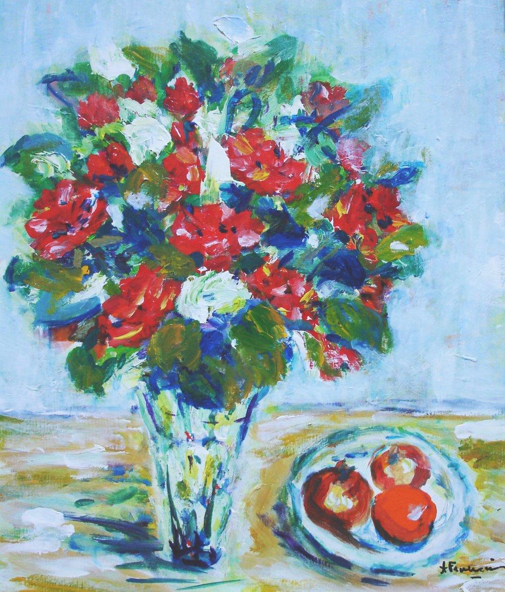 Bouquet d'anniversaire - acrylique