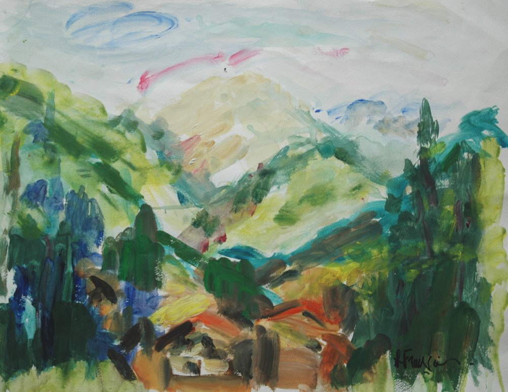 En Savoie - acrylique