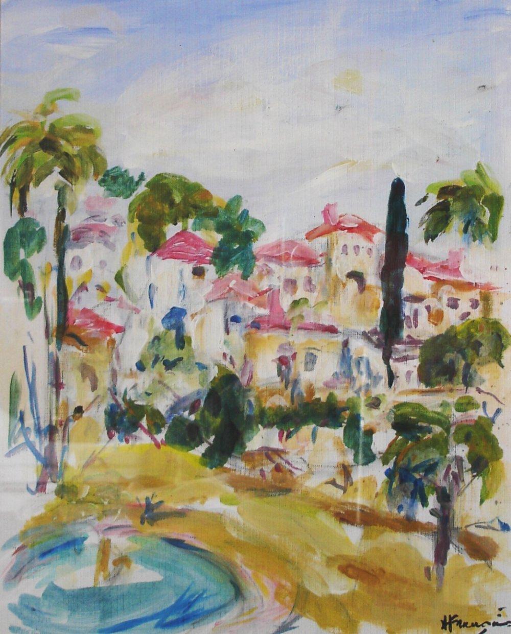 Village Provençal - acrylique